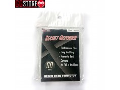 S-TYPE SLEEVES SECRET DEFENDER STANDARD SIZE - CLEAR (60 PCS PER PACK) Ver. 1 (cỡ double)