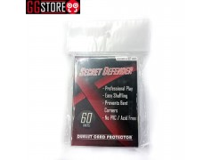 S-TYPE SLEEVES SECRET DEFENDER STANDARD SIZE - CLEAR (60 PCS PER PACK) Ver. 2 (cỡ double)